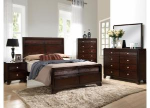 Image for Tamblin King Bed D/M/C/ FREE NIGHTSTAND