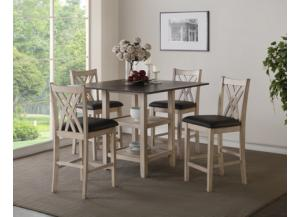 Paige Counter Height Table & 4 Stools