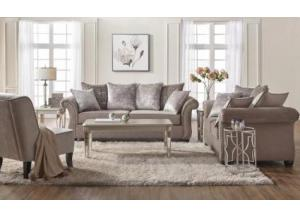 Cosmos Putty/ Chateaux Ash Sofa/Love