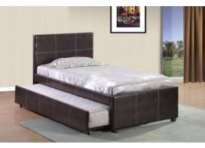 Twin Platform Bed W/ Trundle Bed
