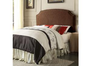 Hasselt Queen Brown Nailhead Headboard