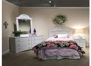 Sophia White Twin Headboard/ Dresser/ Mirror