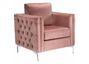 Lizmont Blush Pink Accent Chair