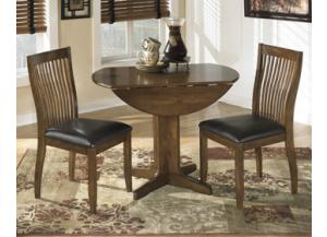 Stuman Round Drop Leaf Table/ 2 Side Chairs