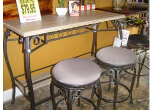 3 Pack Bar & 2 Stools GRAY