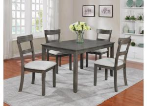 Henderson 5 Pack Dinette set Distressed grey