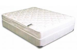 QUEEN BARCROFT PILLOW TOP MATTRESS AND BASE