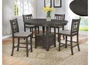 Hartwell Grey Counter Extension Table/4 Stools