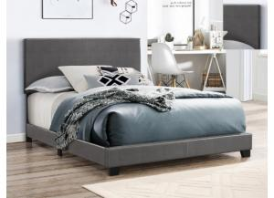 Full Gray Bicast Bed