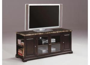 TV Stand Faux Marble Top/Espresso