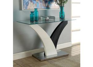 Sloane Sofa Table Dark Grey/White