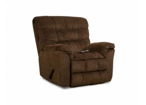 Rocker Recliner W/ HEAT & MASSAGE Aegean Chocolate