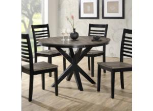 South Beach 2 Tone Weathered Grey Table/4 Chairs