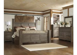 Juararo Queen Poster Bed/Dresser/Mirror