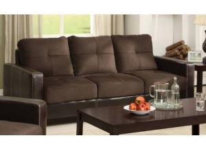 Laverne Chocolate/Espresso Sofa (FLOOR MODEL)
