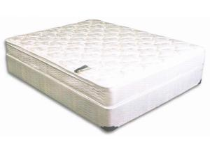 KING BARCROFT PILLOW TOP MATTRESS AND BASE