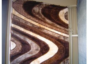 5x7 Wavy Waves Brown Rug