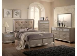 Lila Champagne Queen Bed/Dresser/Mirror/Chest/Nightstand