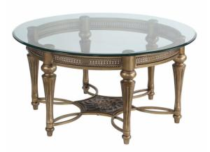 Image for Galloway Wrought Iron ROUND Cocktail Table