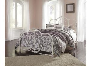 Queen Bed Loriday Aged White