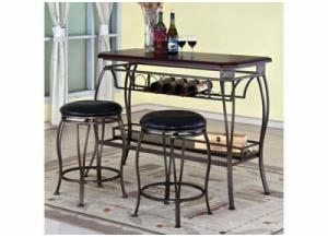 3 Pack Bar & 2 Stools CHERRY