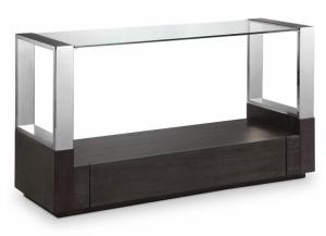 Image for Revere Graphite Sofa Table Chrome/Glass