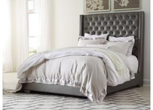 Coralayne Grey Queen Upholstered Bed
