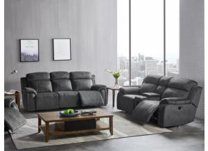Tango Iron Power Reclining Sofa/Power Reclining Love With Blue Tooth Speakers
