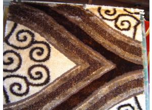 5x8 Luxury Shag Brown Decorative Spades