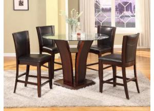 Camelia Counter Height Table/4 Espresso Stools