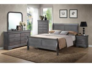 Louis Philip Weathered Queen Bed/D/M/C/NS