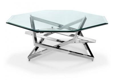 Cocktail Table Chromed Plating Octagonal
