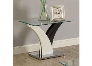 Sloane End Table Dark Grey/White