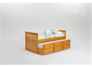 Pine Ridge Mission Bed with Twin Trundle