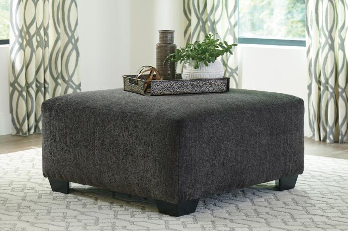 Ballinasloe Smoke Oversized Accent Ottoman,In-Store Product