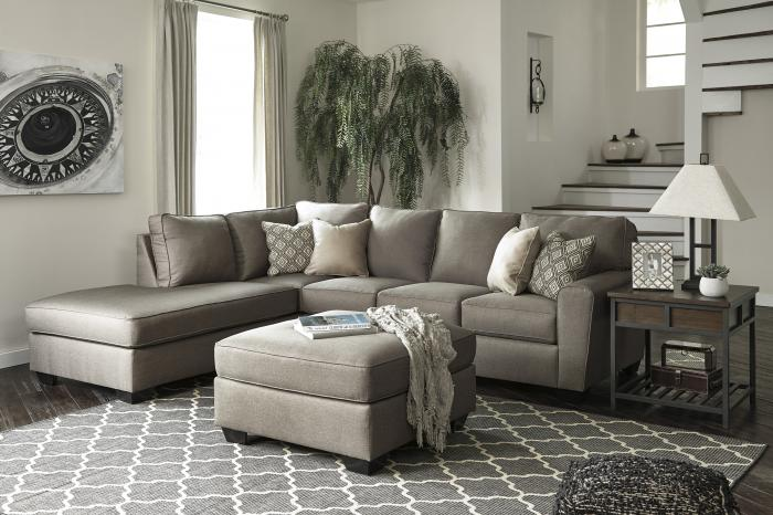 Calico Cashmere LAF Sectional w/Ottoman,In-Store Product