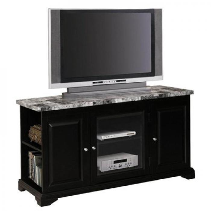 Brothers fine furniture 24518 black faux marble tv stand for Homesource furniture