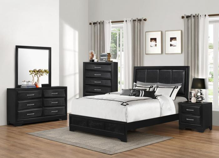 5133 Queen Bed, Dresser, Mirror, Chest, 1- Night stand,Lifestyle