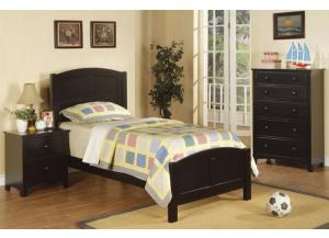 F9208 Black Twin Headboard, Footboard & Rails