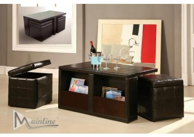 Image for 1679 Chit Chat Occasional Table with 2 Storage Cube Stools