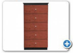 B860 Black/Cherry 5 Drawer Wood Chest