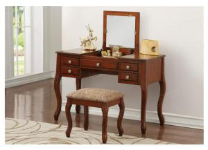 F4147 Cherry Vanity With Stool