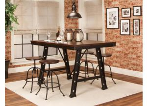W3087-519 Dax Pub Set with Adjustable Stools