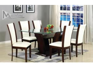22100-130 Enclave Cream Dining Table with 6 Chairs