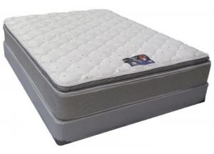 Blue Imperial King Size Single Sided Pillow Top Mattress Set