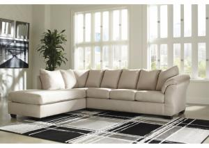 Darcy stone Sectional and Ottoman (LAF)
