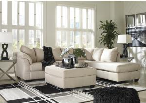 Darcy stone Sectional and Ottoman (RAF)