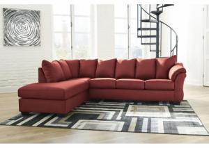 Darcy Salsa Sectional and Ottoman (LAF)