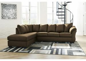 Darcy Café Sectional and Ottoman (LAF)