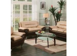 71347-8, Napoli Capuccino/Espresso Faux Leather Sofa And Love seat